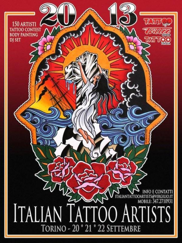 Locandine Torino Tattoo Convention 2011-2012-2013
